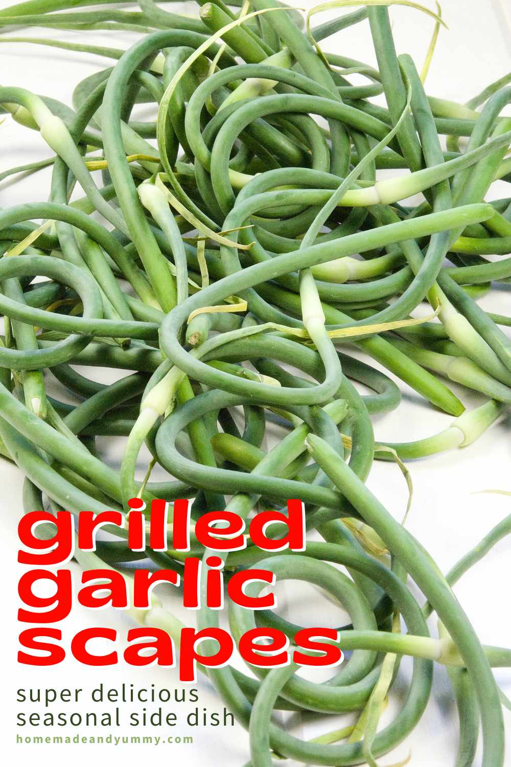 Grilled Garlic Scapes Pin