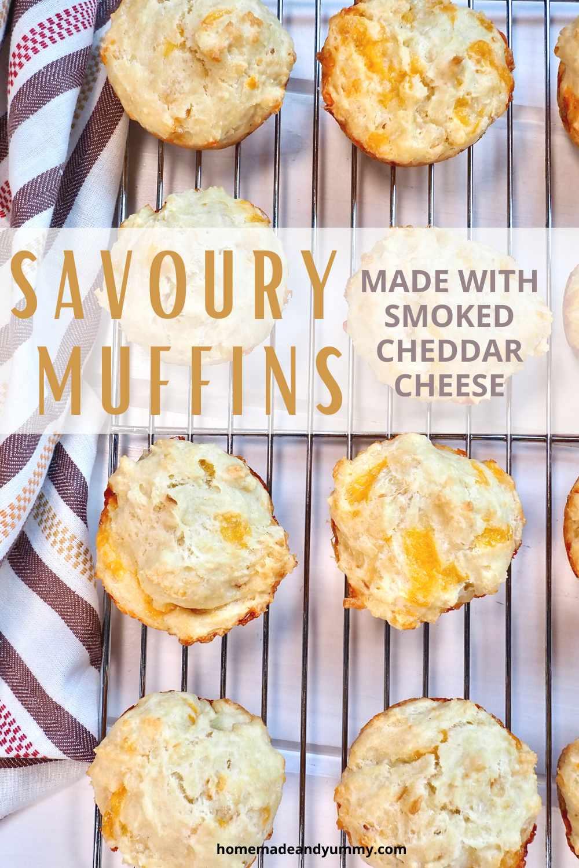 Savoury Cheese and Onion Muffins Pin