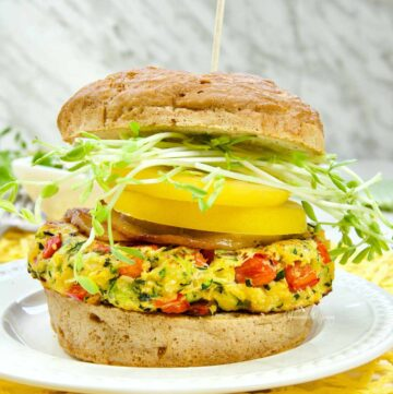 Zucchini and Pancetta Burger Featured Image
