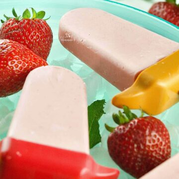 Strawberry Cheesecake Popsicle Featured Image