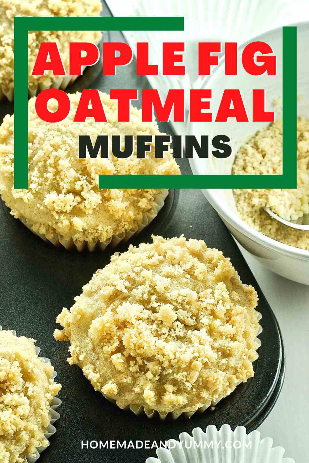 Apple Oatmeal and Fig Muffins Pin