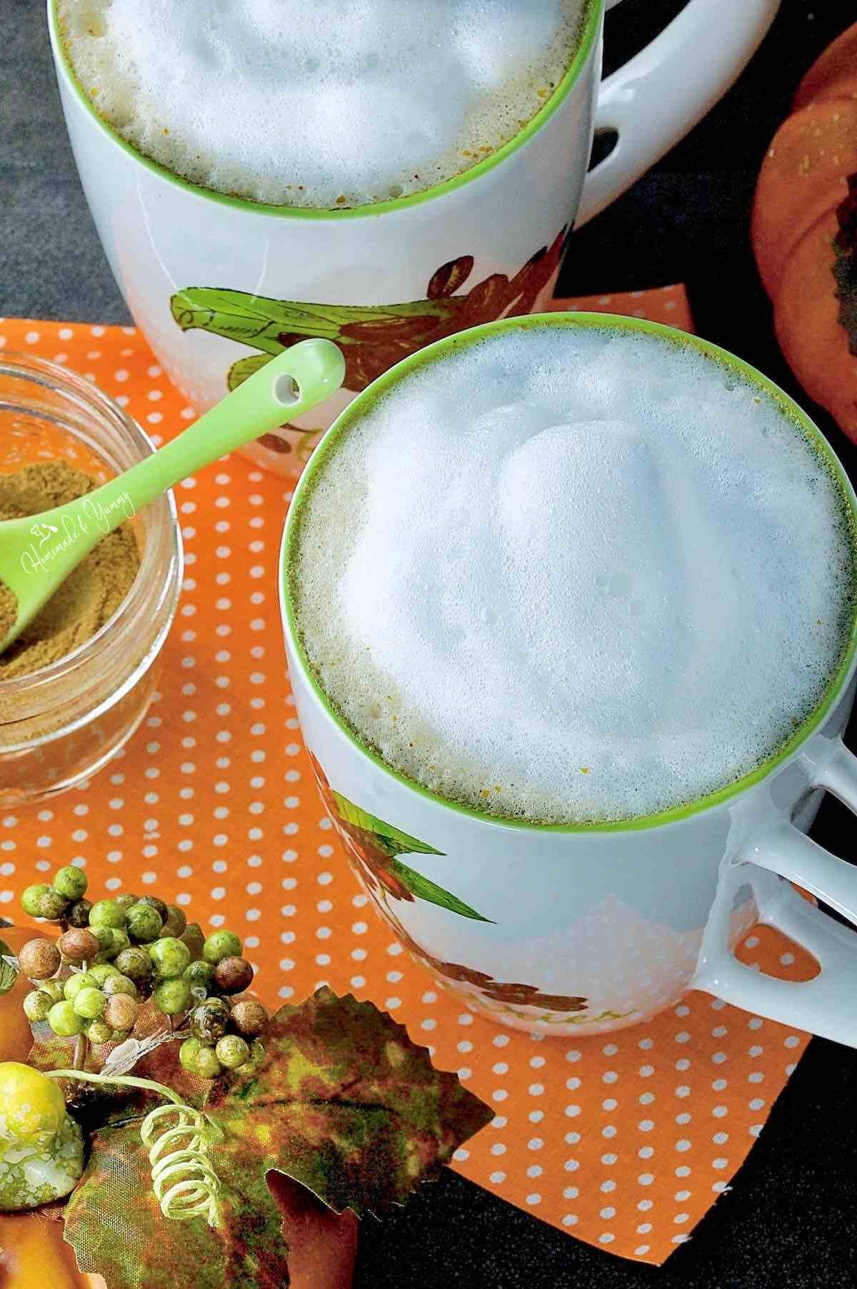 Pumpkin latte recipe for fall.