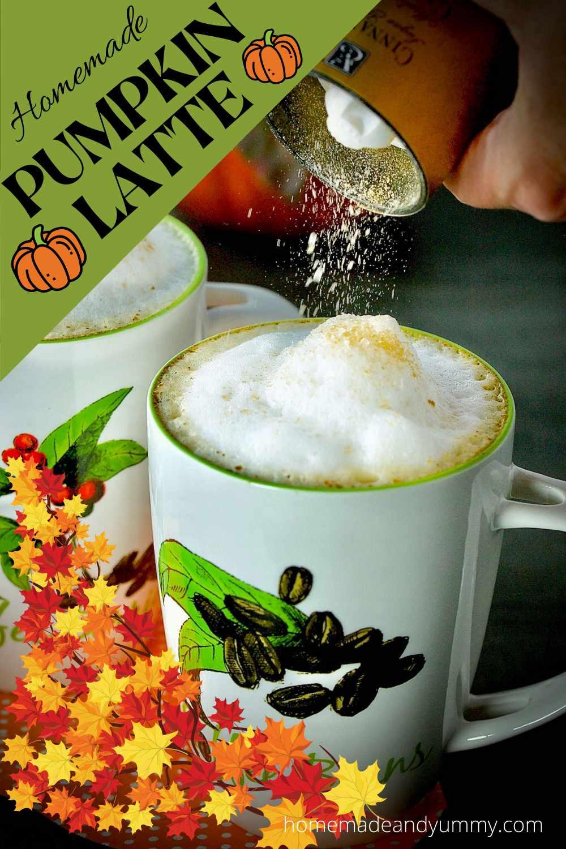 DIY Pumpkin Latte Pin
