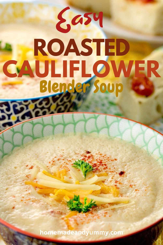 Cauliflower Blender Soup Pin