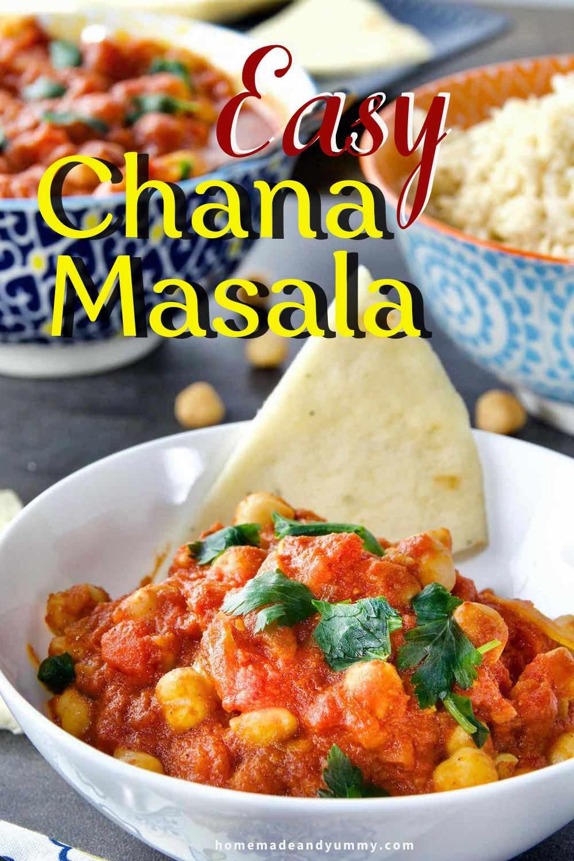 Easy Chana Masala Pin Image